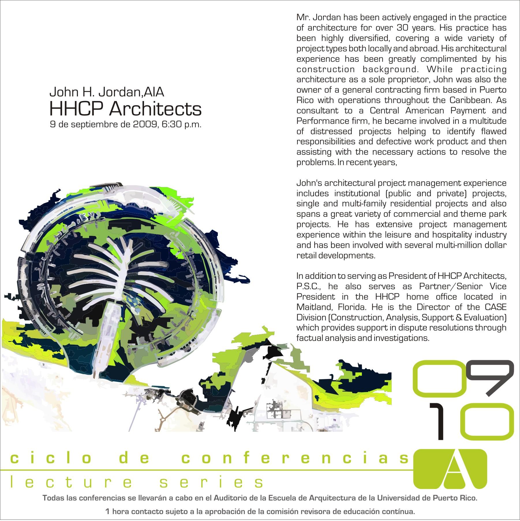 arquillano Conferencia HHCP Architects   Sept. 9 @ UPR
