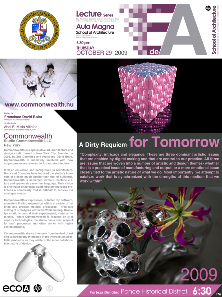 arquillano Conferencia: Commonwealth Studio   A Dirty Requiem for Tomorrow