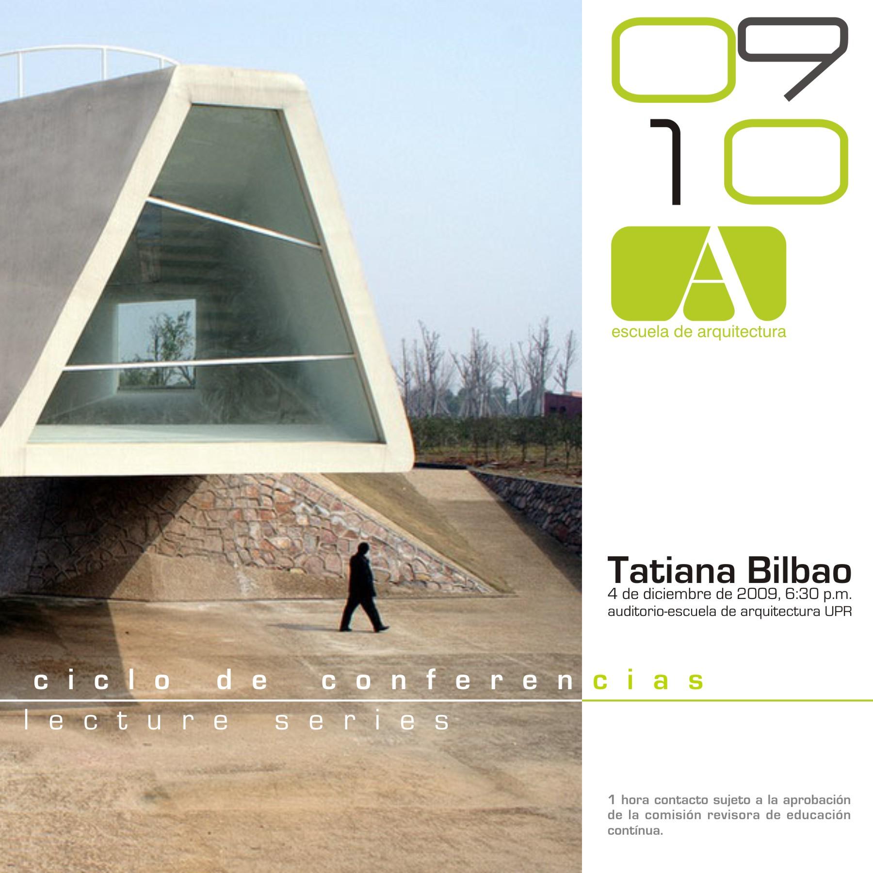 arquillano Conferencia UPR: Tatiana Bilbao