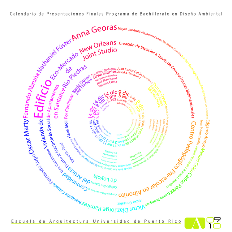 arquillano Presentaciones Finales: Escuela de Arquitectura UPR