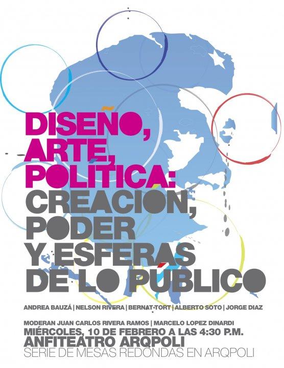 arquillano Mesa Redonda ArqPoli   Diseño, Arte, Política