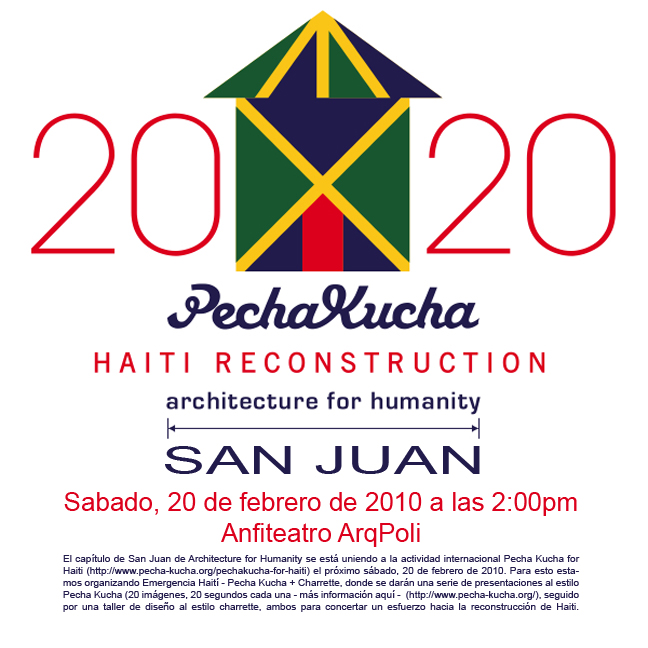 arquillano Emergencia Haití   Pecha Kucha + Charrette