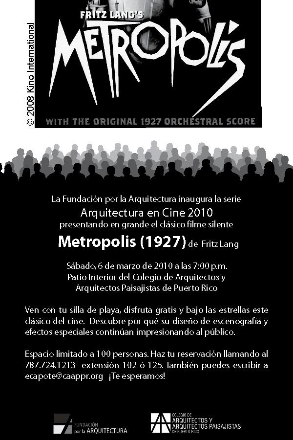 arquillano Arquitectura en Cine: Metropolis