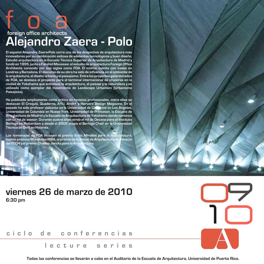 arquillano Conferencia UPR: Alejandro Zaera Polo
