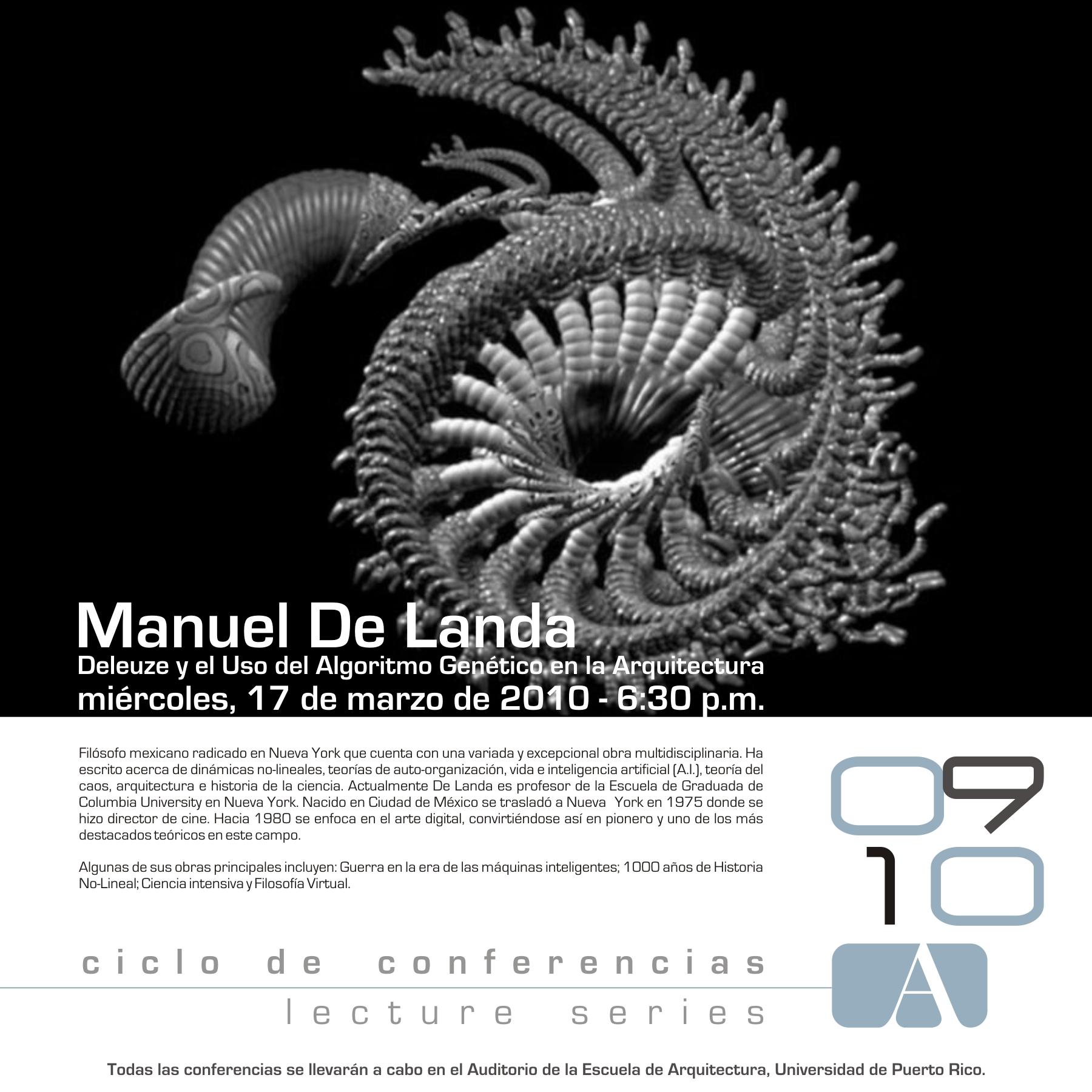 arquillano Conferencia UPR: Manuel de Landa