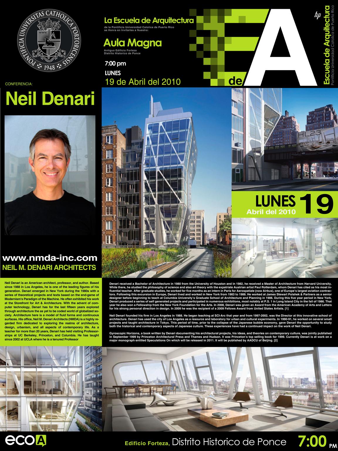arquillano Conferencia PUC: Neil Denari