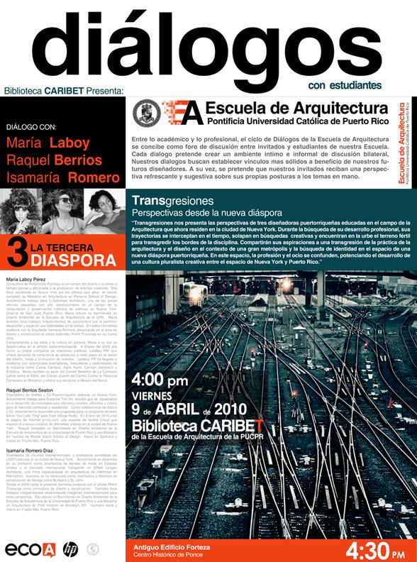 arquillano DIALOGOS @ PUC: La Tercera Diaspora