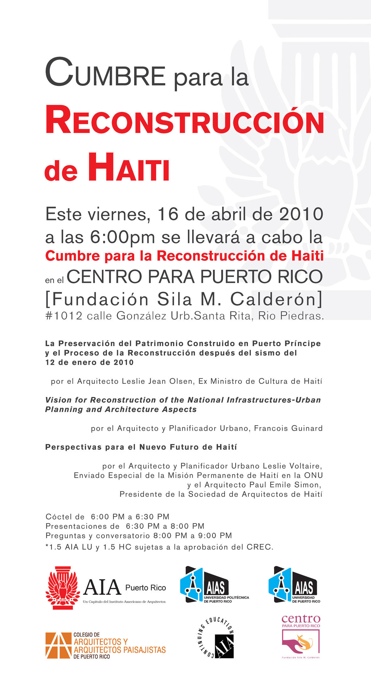 arquillano Cumbre Para la Reconstrucción de Haití