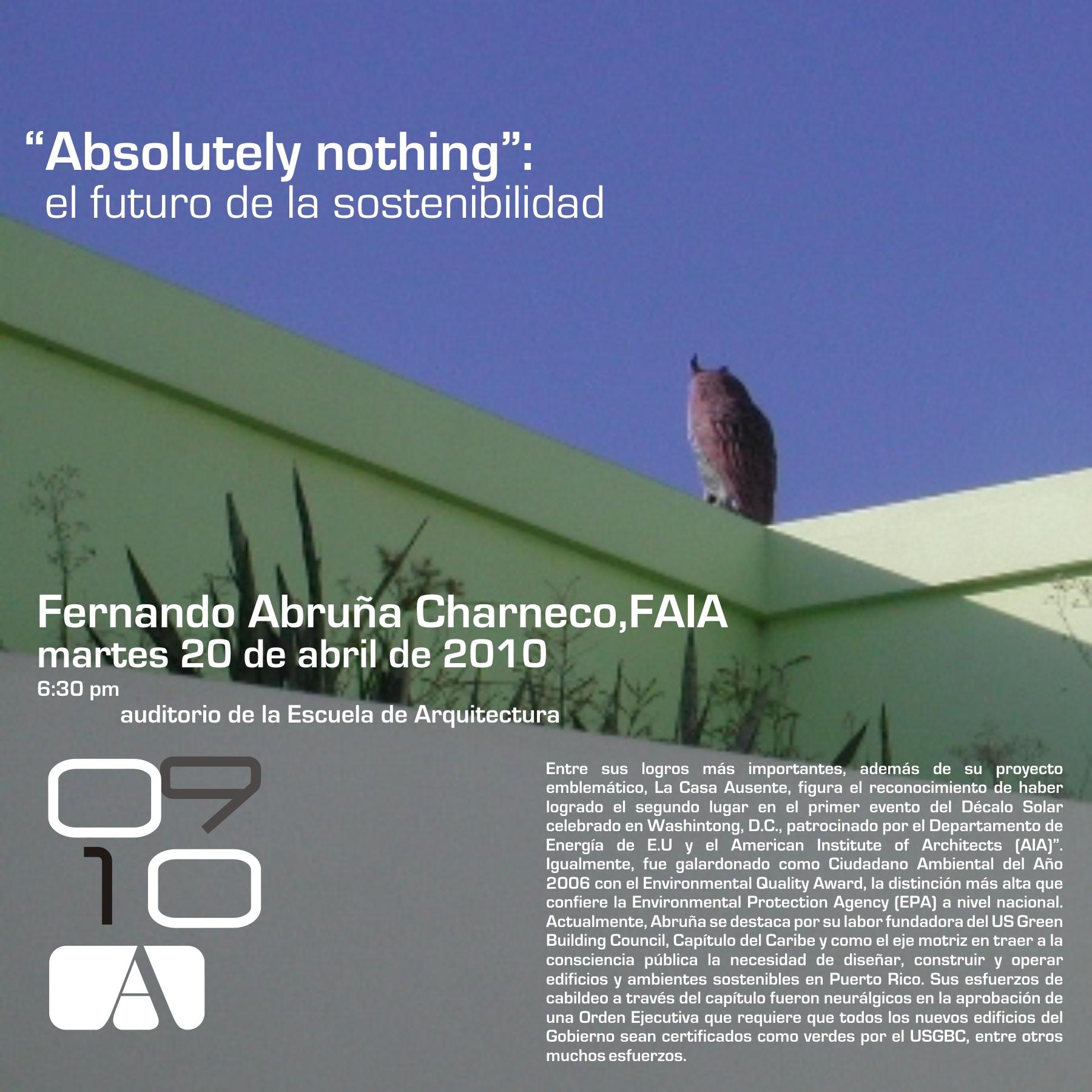 arquillano Conferencia UPR: Fernando Abruña FAIA