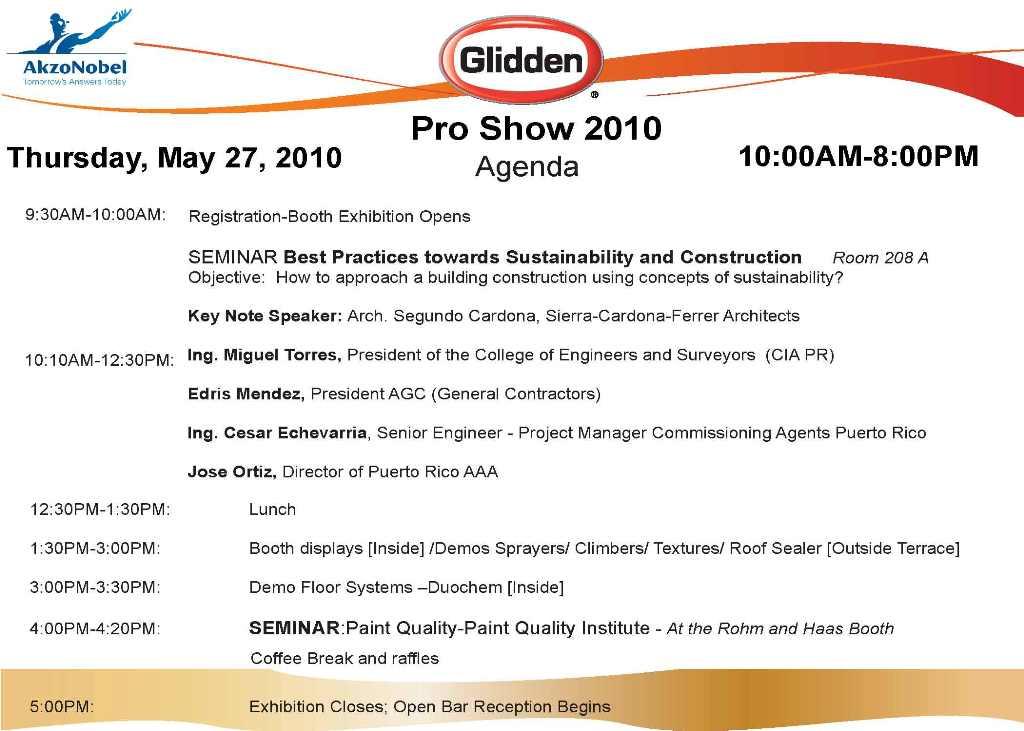 arquillano Glidden Pro Show