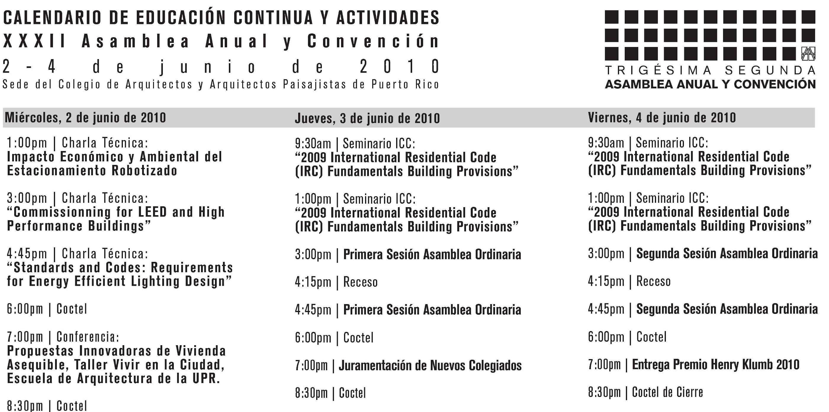 arquillano XXXII Asamblea Anual y Convencion Anual CAAPPR