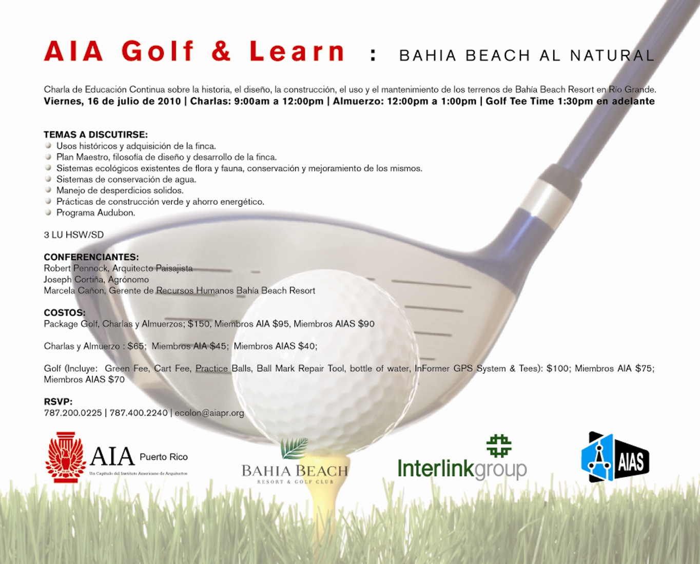 arquillano AIA Golf and Learn: Bahia Beach