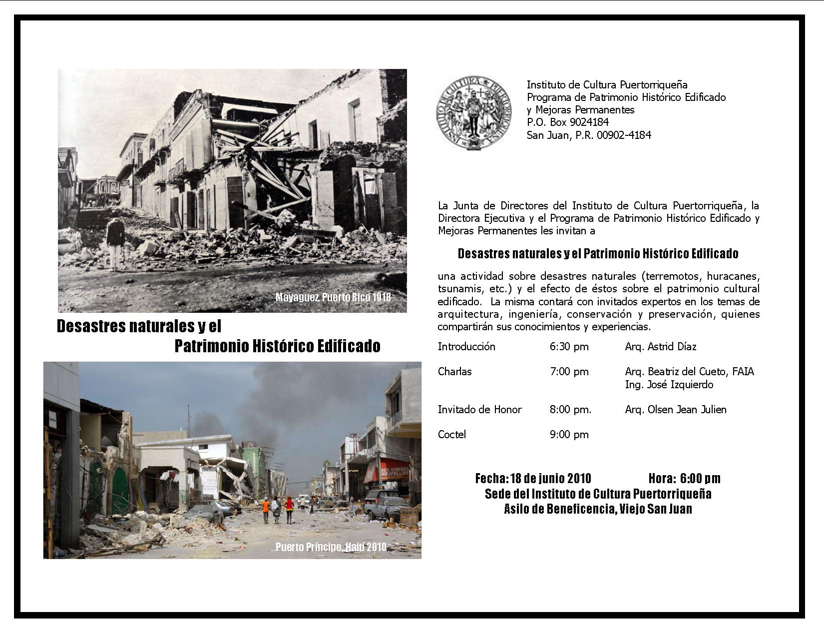 arquillano Conferencia ICP: Desastres Naturales y Patrimonio Historico