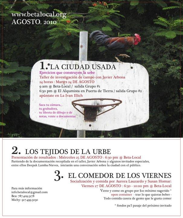 arquillano EVENTO DE LA SEMANA   La Ciudad Usada: un taller de 24horas con Javier Arbona
