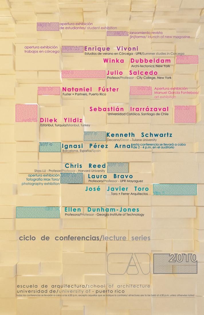 arquillano Ciclo de Conferencias   UPR Arquitectura   Otoño 2010
