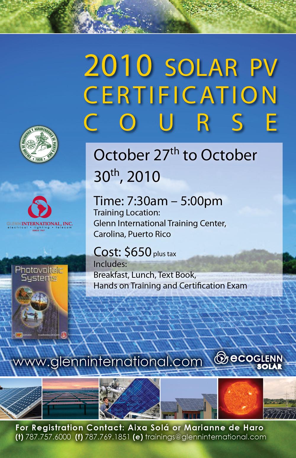 arquillano Curso de Certificación   Energía Solar con Paneles Fotovoltaicos