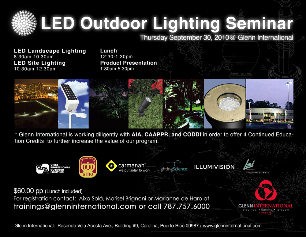 arquillano LED Outdoor Lighting Seminar @ Glenn International