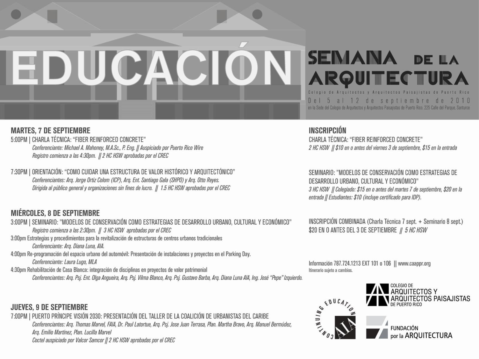 arquillano EVENTO DE LA SEMANA   Semana de la Arquitectura 2010