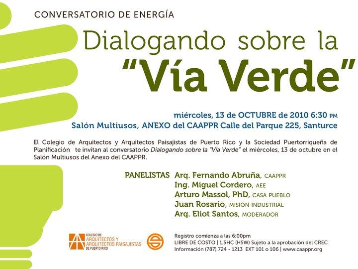 arquillano EVENTO DE LA SEMANA   Conversatorio de Energía: Dialogando sobre la Vía Verde