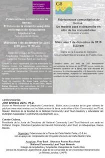 arquillano Foro: Fideicomisos comunitarios de tierras