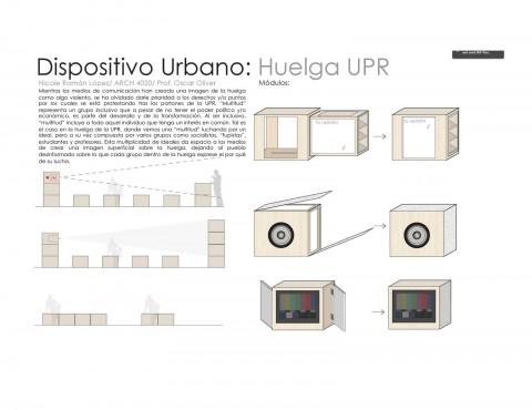 arquillano Proyecto de la Semana: Dispositivos urbanos para la huelga de la UPR