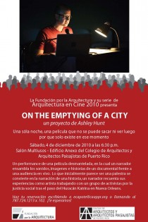 arquillano Performance: Notes on the Emptying of a City