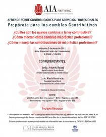 arquillano Seminario AIA: Prepárate para los cambios contributivos