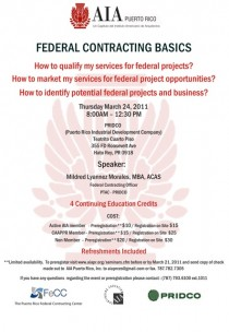 arquillano Seminario AIA: Federal Contracting Basics