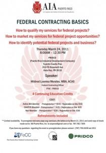 arquillano Seminario AIA: Federal Contracting Basics
