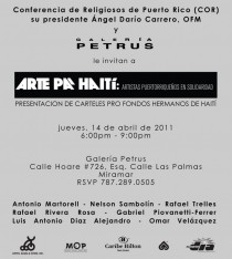 arquillano Arte Pa Haití: Artias Puertorriqueños en Solidaridad