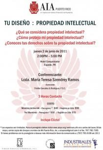 arquillano Seminario AIA PR: Tu Diseño   Propiedad Intelectual