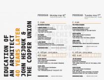 arquillano La Educación del Arquitecto: John Hejduk y el Cooper Union   40 años después