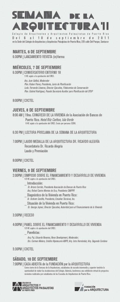 arquillano Semana de la Arquitectura 2011