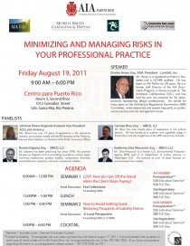 arquillano  Seminario AIA: Minimizing and Managing Risks in Your Professional Practice [Revisado]