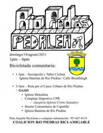 arquillano Bicicletada Comunitaria en Río Piedras