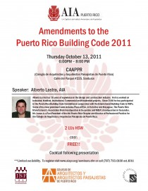 arquillano Seminario AIA: Amendments to the Puerto Rico Building Code 2011.