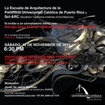 arquillano Conversatorio EAPUCPR y Sci ARC: P.O.N.C.E   Projects of New City Ecology