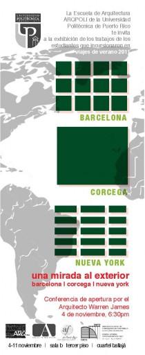 arquillano Exhibición ArqPoli: Una mirada al exterior: Barcelona, Córcega y Nueva York
