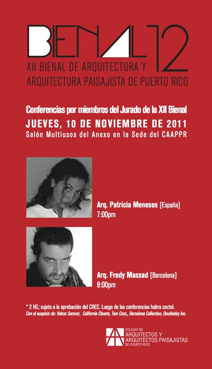 arquillano XII Bienal de Arquitectura y Arquitectura Paisajista de Puerto Rico
