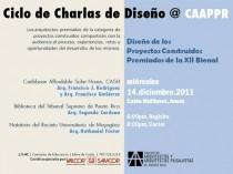 arquillano Conferencia CAAPPR: Diseño de los proyectos construidos premiandos de la XII Bienal