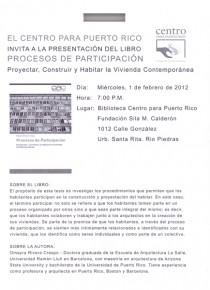 arquillano Presentación Libro: Procesos de Participación: Proyectar, Construir y Habitar la Vivienda Contemporánea