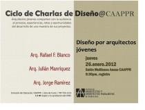 arquillano Conferencia CAAPPR: Diseño por arquitectos jovenes