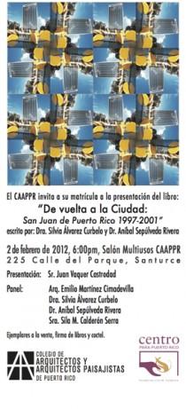arquillano Presentación Libro: De vuelta a la Ciudad: San Juan de Puerto Rico 1997 2001