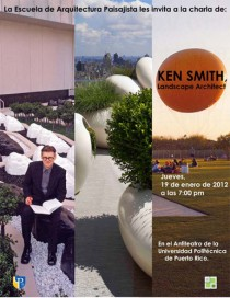 arquillano Conferencia ArqPoli: Ken Smith   Landscape Architect