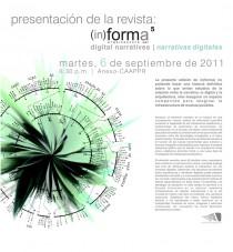 arquillano Presentación de la revista (in)forma 5: Narrativas digitales