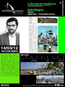 arquillano Conferencia EAPUC: Víctor Nieto  –  ae.i.ou: proyectos, investigaciones y otras salidas de escape
