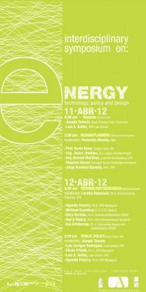 arquillano Simposio interdisciplinario UPR | ENERGIA: tecnología, política y diseño