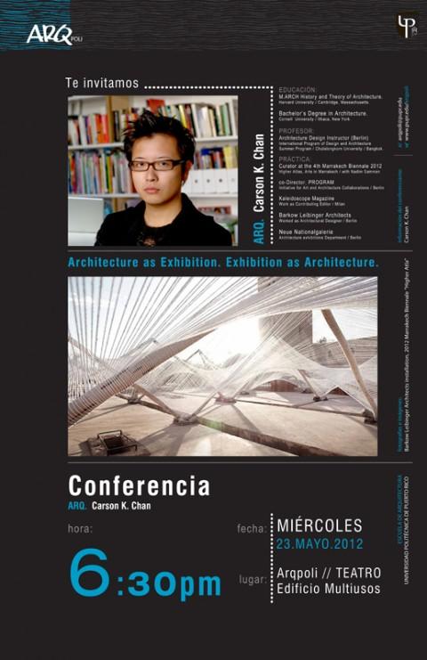 arquillano Conferencia ArqPoli: Carson Chan