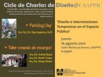 arquillano Conferencia CAAPPR: Diseño e Intervenviones Temporeras en el Espacio Público