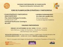 arquillano Foro SPP: Planificación Estratégica y Participativa